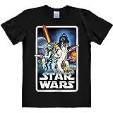 Logoshirt Camiseta La Guerra de Las Galaxias - Póster - Camiseta Star Wars - Poster - Camiseta con Cuello Redondo Negro - Dis