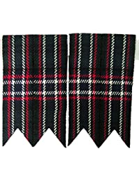 Tartanista - Flashes de chaussettes de kilt - couleur unie/tartan Royal Stewart/tartan Black Watch/etc. - Scottish National