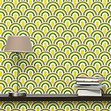 Apalis Kindertapeten Vliestapeten Nummer TA99 Retromuster Fototapete Breit | Vlies Tapete Wandtapete Wandbild Foto 3D Fototapete für Schlafzimmer Wohnzimmer Küche | gelb, 98202