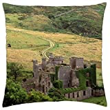clifden castle county galway ireland - Throw Pillow Cover Case (16