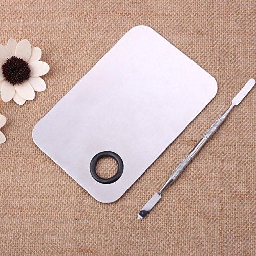 Pixnor Dame acier inoxydable maquillage cosmétiques Palette spatule outil (150x100MM)