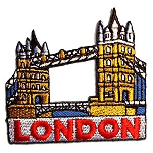 London Logo Patch ''6,7 x 6,4 cm'' - Écusson brodé Ecussons Imprimés Ecussons Thermocollants Broderie Sur Vetement Ecusson
