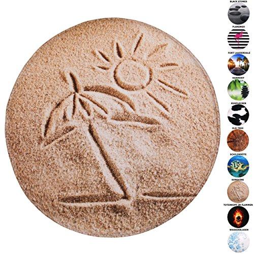 Badteppich Rund, viele schöne runde Badteppiche zur Auswahl, hochwertige Qualität, sehr weich, schnelltrocknend, waschbar, 80 cm (Sunshine, 80 cm)