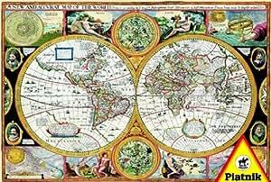 Piatnik - Puzzle 6000 pièces - Vieille carte du monde -