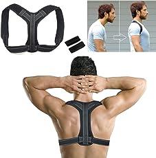 Lyeiaa Geradehalter zur Haltungskorrektur,Rückenbandage Rückenstütze Rücken Geradehalter Schulter Posture Corrector Haltungstrainer für Damen Herren, Verstellbar & Atmungsaktiv, L-XL (81-105)