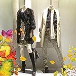 wall art FV0018 Fasce decorative per vetrine - Fascia Bosco incantato - Misure 100x30 cm - Vetrine negozi, stickers, adesivi,saldi autunnali