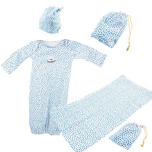 itsImagical 87252 - Baby bodysuit set, Erstausstattungs-Set KicoNico, blau