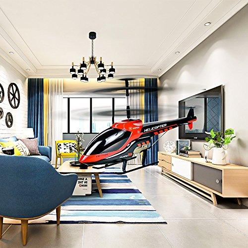 Helicóptero RC Vatos Helicóptero de control remoto Indoor 3.5 canales Hobby Mini RC Flying Helicóptero 2 cuchillas Reemplazo incluido RC Plane Juguete de regalo para niños Resistencia al choque consi