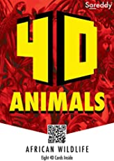 SAREDDY African Wildlife (Augmented Reality FlashCards)Animals 4D(Multicolour)