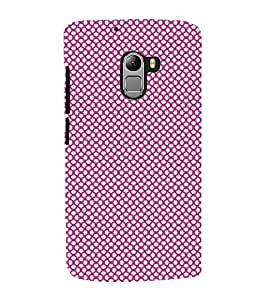 Fuson Premium Back Case Cover Colourful Dotted Pattern With pink Background Degined For Lenovo K4 Note