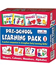Creative's Pre-School Learning Pack 1 Shapes, Colours, Numbers and Alphabet (Multi-Color)