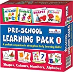 Pre school board book to teach shapes, colors, numbers, alphabet.