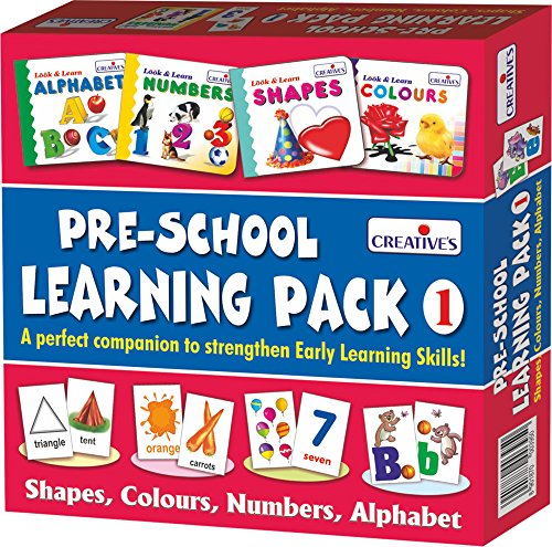 Creative Education Pre-School Learning, Pack 1 (Shapes, Colours, Numbers and Alphabet)