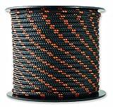 Chapuis MO325N Drizza poliestere - 200 kg - Diametro 3 mm - Lunghezza 25 m - Nero/arancione