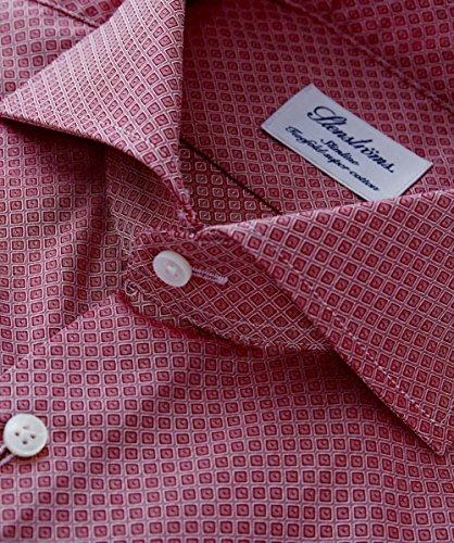 Stenstroms Hommes Slimline imprimé chemise en coton Rouge Rouge