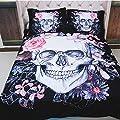Funky Gothic Skulls Motif Duvet Quilt Cover & Pillowcase Bedding Set produced by Stillshine - best deals