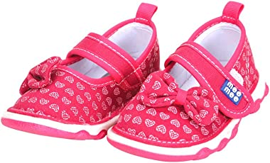 Mee Mee First Walk Baby Shoes with Chu Chu Sound (23 EU, Dark Pink)