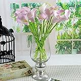 10pcs Impianto Casa Decorazione Artificiale in lattice Calla Lily Fiori (rosa)