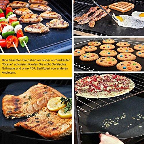 61zKl9bCLQL - EXTSUD BBQ Grillmatten, 5er Set BBQ Antihaft Grill-und Backmatte Wiederverwendbar PFOA-Frei - Toll über Kohle, Gas und Weber Style Grills - Perfekt für Fleisch, Fisch und Gemüse 40x33 cm MEHRWEG