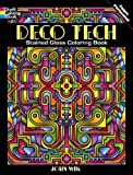 Deco Tech Stained Glass Coloring Book (Dover Coloring Books)