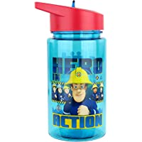 P:os 27264 - Trinkflasche für Kinder, ca. 450 ml, transparentes Design mit Feuerwehrmann Sam Motiv und integriertem…
