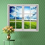 Wandtattoos Wandbilder3D Wandaufkleber stereo Fensteraufkleber Fenstergitter Emulation Fenster Wohnzimmer Schlafzimmer die dekorative Malerei HD selbstklebend (58 * 65.5cm)