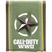 Cartera de Call of Duty Freedom estrella plateada Verde