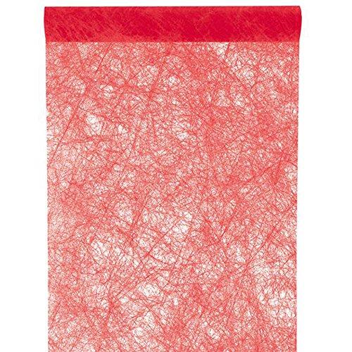 NEU Tischläufer Faseroptik rot, 30cm x (5 Kostüme Personen)