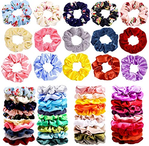Ginkano 40Pcs Hair Scrunchies Ve...