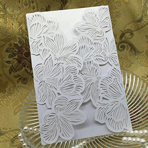 sypure (TM) Romantic Geburtstag Hochzeit Party Einladung Karte Umschlag zarten geschnitzt Muster festlichen Veranstaltung Dekoration Supplies 100/Pack