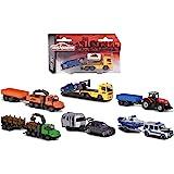 Majorette 212053154 Trailer Assortment - Cochecito de juguete (incluye caja de colecciones, neumáticos de goma, rueda libre,