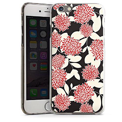 Apple iPhone 4 Housse Étui Silicone Coque Protection Fleurs Fleurs Ornements CasDur transparent