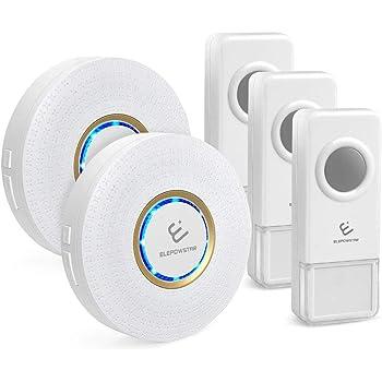 drahtlose funkklingel set elepowstar ip55 wasserdicht kabellose t rklingel wireless doorbell. Black Bedroom Furniture Sets. Home Design Ideas