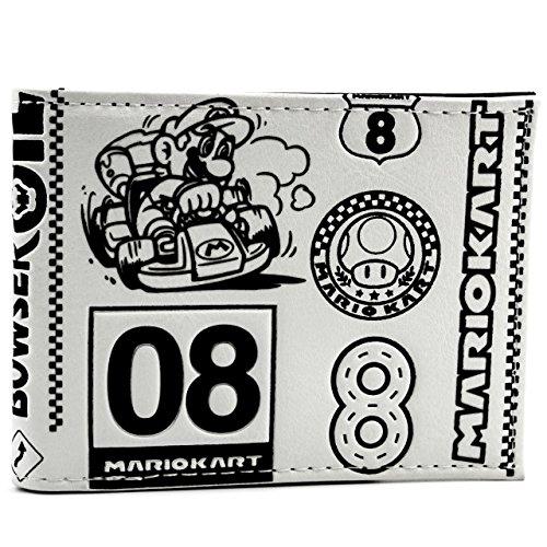Nintendo Mario Kart Mushroom Cup bianco portafoglio