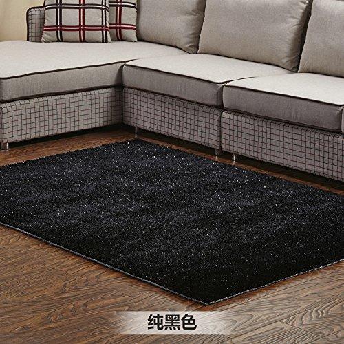 Qwer Das Wohnzimmer Teppich moderner, minimalistischer Couchtisch Schlafsofa Schlafzimmer Teppiche home Teppich, 120*170 cm, Schwarz + helle Linien Teppiche