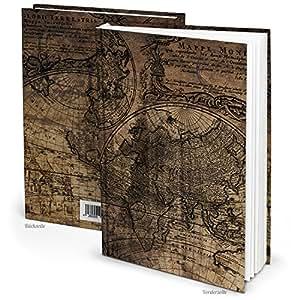 notizbuch tagebuch vintage klein din a5 alte welt braun reisetagebuch blanko buch leer maritim. Black Bedroom Furniture Sets. Home Design Ideas