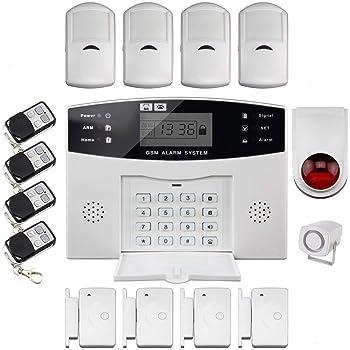 Burglar Alarm System,ECTECH Security Wireless GSM Autodial Call Home Intruder Alarm Set