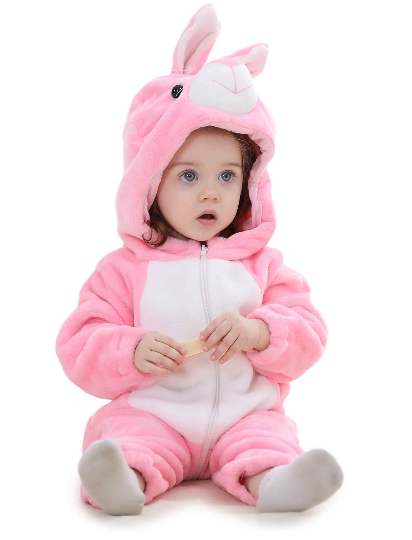 Adorel Pelele Buzo Pijama Manta con Capucha para Bebés Niño 1