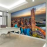 Wongxl Die Stadt Die Großflächige Wandtapete Auf Der Wand Des Wohnzimmers Fernsehsofa Schlafzimmertapete Errichtet 3D Tapete Hintergrundbild Fresko Wandmalerei Wallpaper Mural 400cmX300cm