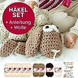Häkel-Set für Kuscheltier Harald von myboshi mit 9x 50g myboshi Wolle No.1 (30% Merino, 70% Polyacryl), Gratis Häkel-Anleitung, Häkelndel 6,0mm und selfmade Label
