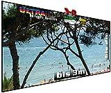 Rahmenleinwand starr, auch für Passiv-3D, 120', 16:9, 267 x 150 x 2 cm, Heimkino High Gain...