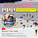 DIY Large Wall Clock 3D Mirror Sticker Big Watch Home Decor Unique Gift by Chinatera