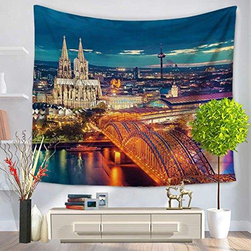 City Scenery Tapestry 100% poliestere–Memorecool telo mare casa appeso coperta ufficio coperte 149,9x 129,5cm, Poliestere, city34, 59x79inch city9