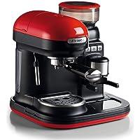Ariete 1080 Machine à expresso avec moulin à café intégré moderne pour café en grains et en poudre, cappuccinatore…