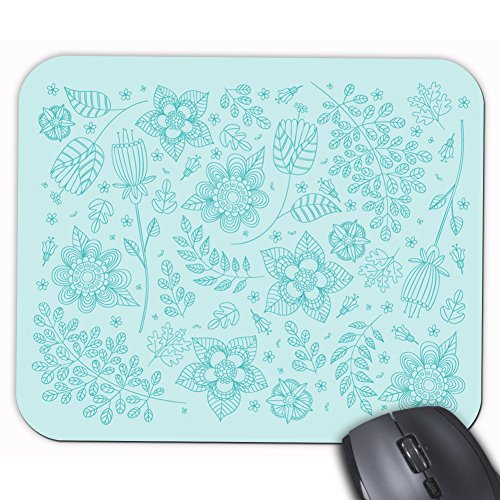 teal-azul-flores-floral-patron-rectangulo-personalizada-alfombrilla-de-raton-pad-mousepad-oficina-al