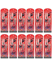 Asera 12 Pcs Spiderman Scale Watch With 2 Pens Gift Set - Kids Birthday Return Gifts For Spiderman Theme Party