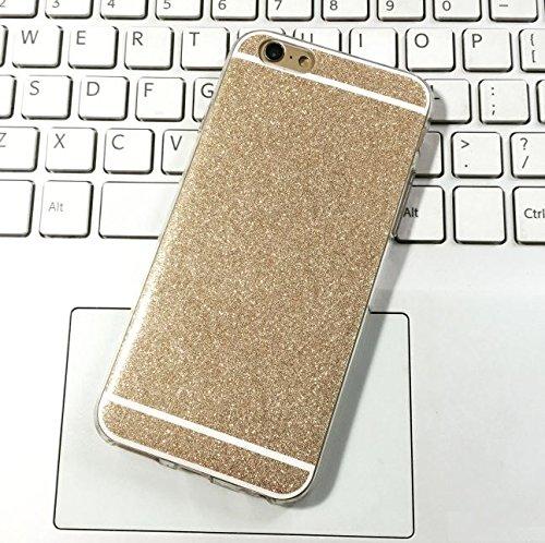 FINOO Luccicante Handyhuelle Silicone - Luccicante Rosso, Iphone 6/6S Luccicante Oro