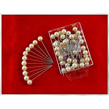 KEINE STECKNADELN SCHWARZ Perlen-Nadeln Deko-Nadeln Perle 10mm 50 St/ück ACHTUNG