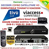 Decoder Satellitare HD compatibile con tessera Tivusat è con tessere Viaccess Digiquest Bware COMBO 540