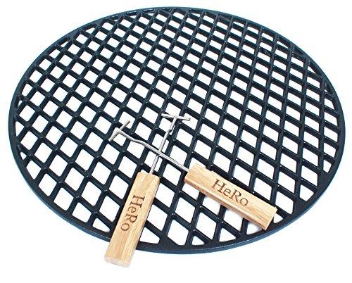 Griglia in ghisa, diametro 54,5cm smaltata barbecue a sfera inclusive 2impugnature anche per es. per weber e altri 55,56,57cm